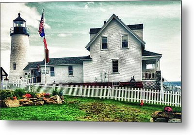 Metal Print featuring the photograph Pemaquid Lighthouse by Kelly Reber