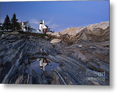 Pemaquid Point Lighthouse - D002139 Metal Print by Daniel Dempster