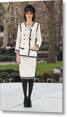 Penelope Cruz Wearing A Chanel Suit Metal Print by Everett