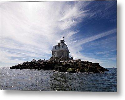 Penfield Reef Lighthouse Metal Print by Stephanie McDowell