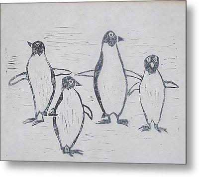 Penguins Metal Print by Tina M Wenger