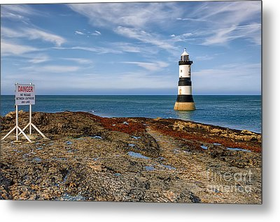 Penmon Point Lighthouse Metal Print by Adrian Evans