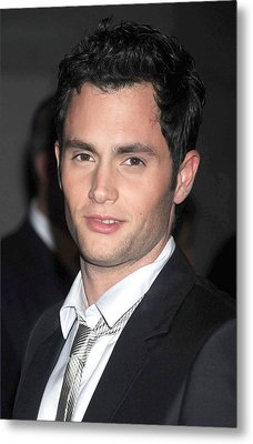 Penn Badgley At Arrivals For Fashion Metal Print by Everett