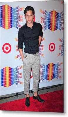 Penn Badgley In Attendance For Target Metal Print by Everett