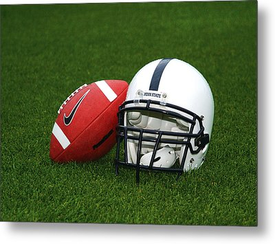Penn State Football Helmet Metal Print
