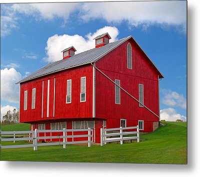 Pennsylvania Dutch Red Barn Metal Print by Brian Mollenkopf