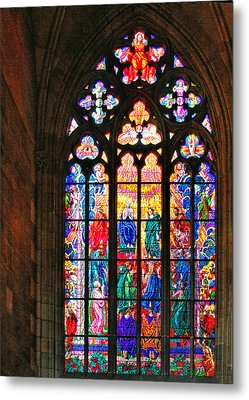 Pentecost Window - St. Vitus Cathedral Prague Metal Print by Christine Till