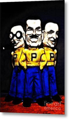 Pep Boys - Manny Moe Jack - Color Sketch Style - 7d17428 Metal Print by Wingsdomain Art and Photography