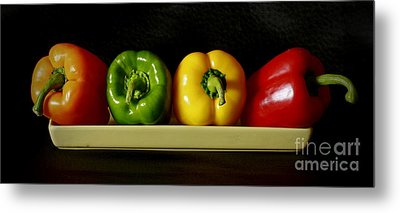 Pepper Delight Metal Print by Inspired Nature Photography Fine Art Photography