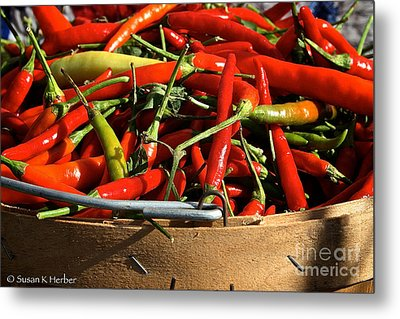 Peppers And More Peppers Metal Print by Susan Herber