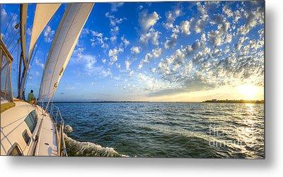 Perfect Evening Sailing On The Charleston Harbor Metal Print by Dustin K Ryan