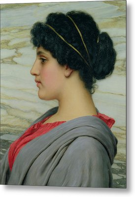 Perilla Metal Print by John William Godward