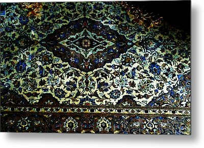 Persian Rug Metal Print by Unique Consignment