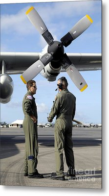 Personnel Conduct A Pre-flight Briefing Metal Print by Stocktrek Images