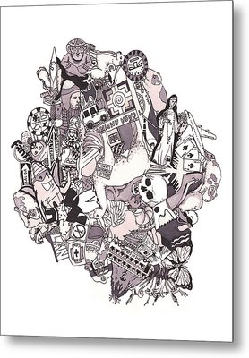 Peruvian Illustrated Journal Metal Print by Tyler Auman