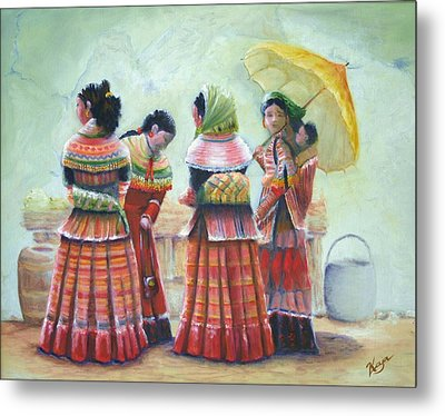 Peruvian Ladies Metal Print by Catherine Link