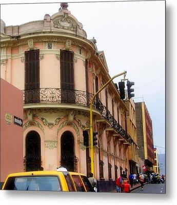 Peruvian Streets Metal Print by Karen Wiles