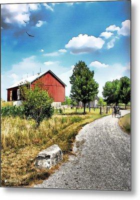 Peter Stuckey Farm Metal Print by Tom Schmidt