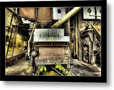 Metal Print featuring the digital art Peters Factory 02 by Kevin Chippindall