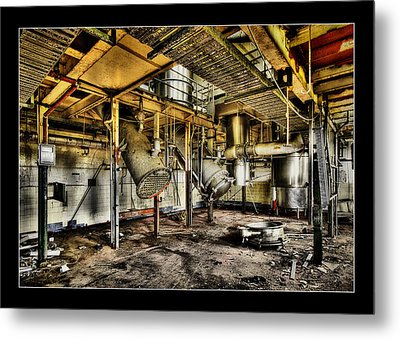 Metal Print featuring the digital art Peters Factory 03 by Kevin Chippindall