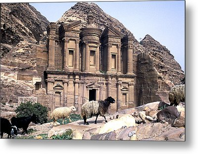 Petra Architecture Metal Print by John Miles
