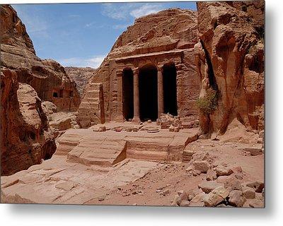 Petra's Garden Temple Metal Print by Dan Wiklund