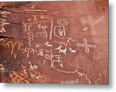 Petroglyph Canyon - Valley Of Fire Metal Print by Christine Till