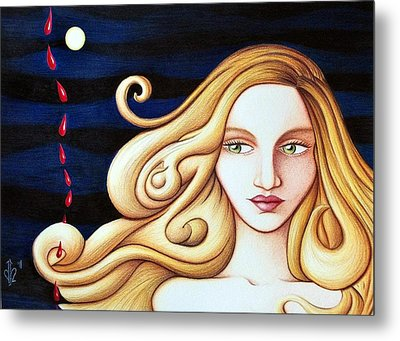 Metal Print featuring the drawing Phase by Danielle R T Haney