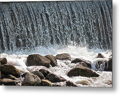 Metal Print featuring the photograph Phelps Mill Dam by Penny Meyers