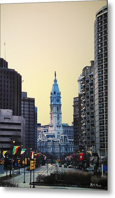 Philadelphia Cityhall At Dawn Metal Print by Bill Cannon