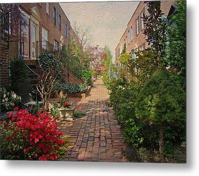 Philadelphia Courtyard - Symphony Of Springtime Gardens Metal Print by Mother Nature