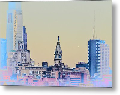 Philadelphia From South Camden Metal Print by Bill Cannon