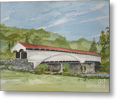 Philippi Covered Bridge  Metal Print