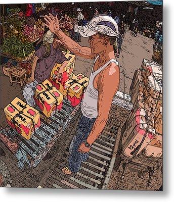 Philippines 3031 Muscles Metal Print by Rolf Bertram