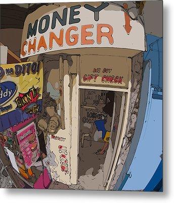 Philippines 3954 Money Changer Metal Print by Rolf Bertram