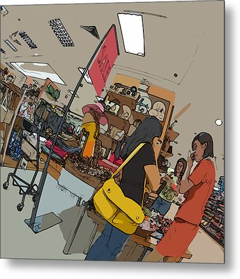 Philippines 4385 Department Store Sales Lady Metal Print by Rolf Bertram