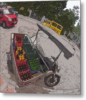 Philippines 5397 Soft Drinks And Beer Delivery Metal Print by Rolf Bertram