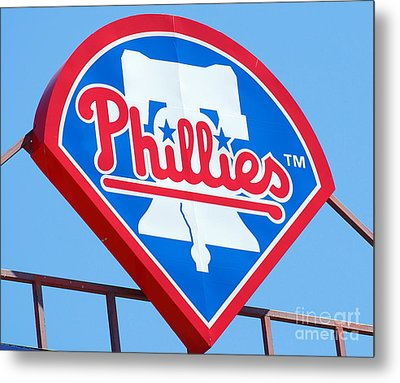 Phillies Logo Metal Print by Carol Christopher