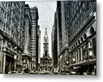 Philly - Broad Street Metal Print by Bill Cannon