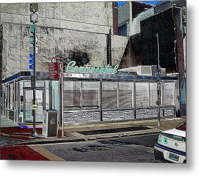 Philly Diner Metal Print by John J Murphy III
