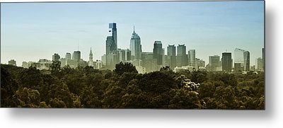 Philly Panorama Metal Print by Bill Cannon