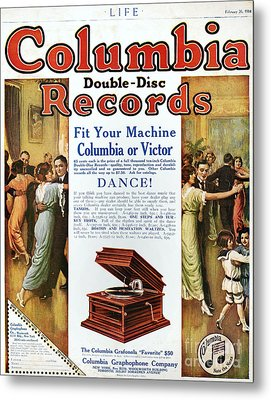 Phonograph Ad, 1914 Metal Print by Granger