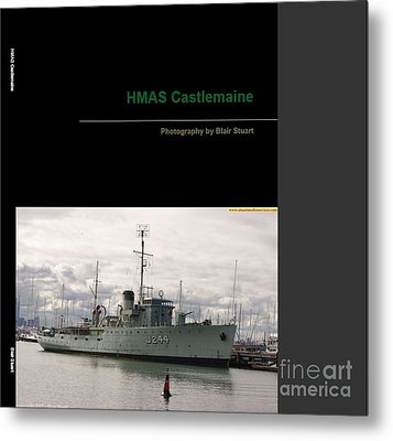 Metal Print featuring the mixed media Photobook On Hmas Castlemaine by Blair Stuart