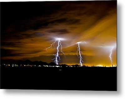 Phx Night Lightning #1 Metal Print by Kenny Jalet