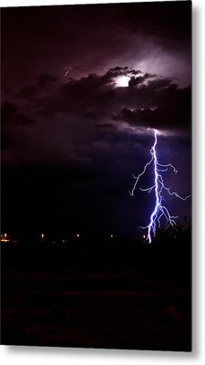 Phx Night Lightning 8 Metal Print by Kenny Jalet