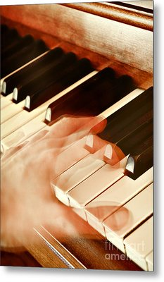 Piano Metal Print by HD Connelly