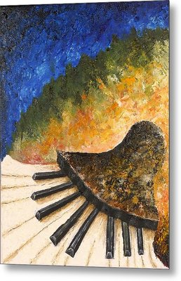 Piano Jazz Metal Print by Draia Coralia