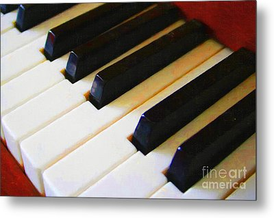 Piano Keys . V2 Metal Print by Wingsdomain Art and Photography