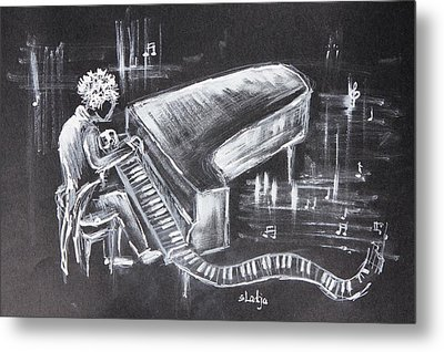 Piano Man Metal Print