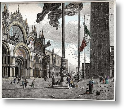 Piazza San Marco In Venice Metal Print by Raffaella Lunelli